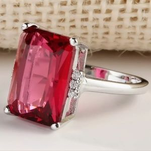 ♥️ Sterling Silver Ruby Ring ♥️